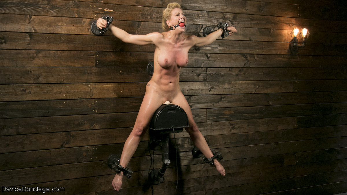 Athletic MILF Fuck Toy Cherie Deville Punished in Bondage and Sybian!!
