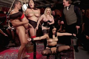 Aiden Starr, Karlee Grey & Vanessa Sky   Anal Submissive Sluts Ravaged & Squirting at Holiday Winter Orgy