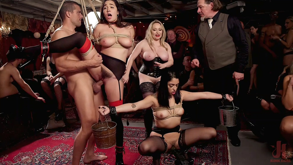 Aiden Starr, Karlee Grey & Vanessa Sky – Anal Submissive Sluts Ravaged & Squirting at Holiday Winter Orgy