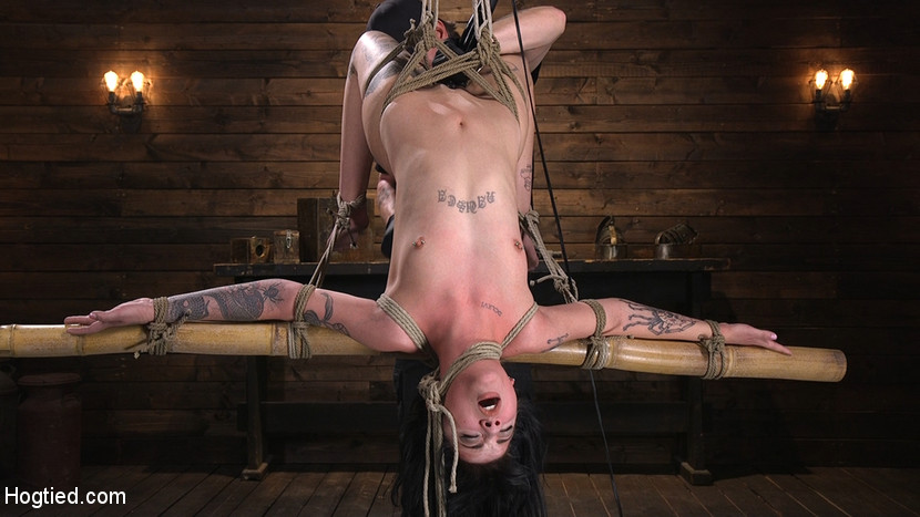 Submissive Goth Girl is Bound, Tormented, and Made to Cum – Charlotte Sartre