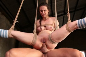 Casey Calverts Double Penetration Suspension
