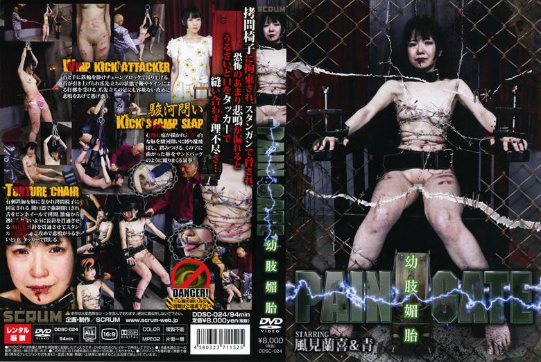 [DDSC-024] PAIN GATE 幼肢媚目 拷問・ピアッシング 縛り Torture Tied 風見蘭喜