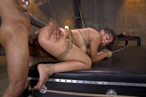 New Slut Kendra Spade Bound in Rope, Anally Fucked With Enormous Cock!
