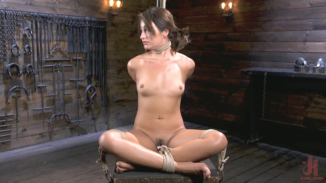Young and Petite Slut in Grueling Bondage and Tormented