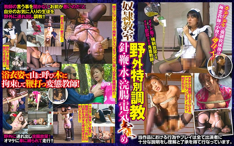 [AXDVD-271R] Slave Classroom Outdoor Special Training Needle, Whip, Water, Enema, Current Blame Arena Entertainment